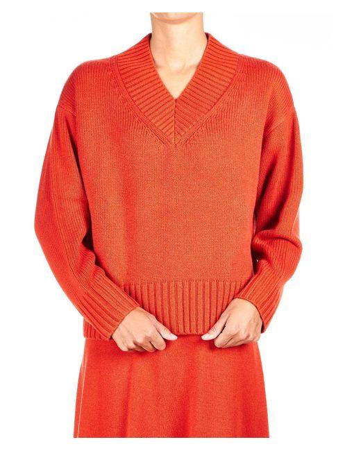Joseph Orange Wool Sweater