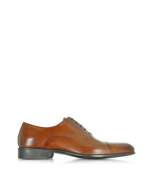 Moreschi Brown Leather Lace-up Shoes for men