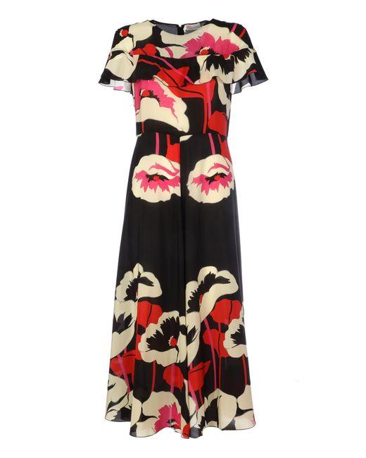 RED Valentino Black Silk Dress