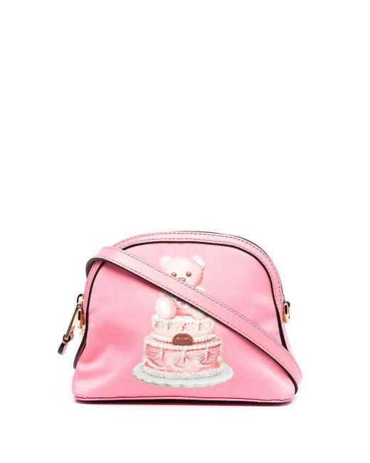 Moschino Pink LEDER SCHULTERTASCHE