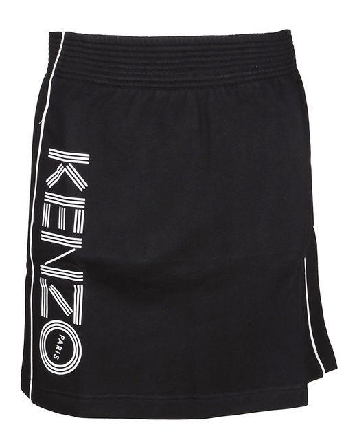 KENZO Black Cotton Skirt