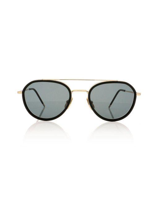 Thom Browne Metallic Sunglasses