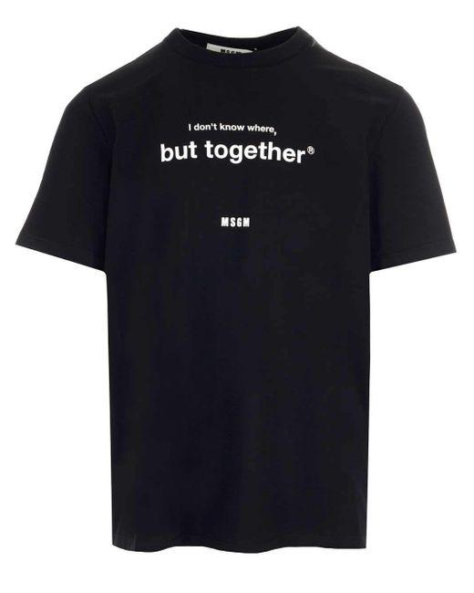 MSGM ANDERE MATERIALIEN T-SHIRT in Black für Herren