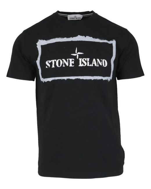 Stone Island Black Other Materials T-shirt for men