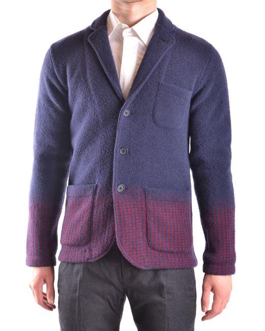 Altea Blue Wool Blazer for men
