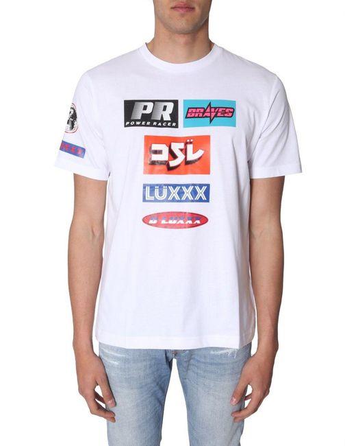 DIESEL BAUMWOLLE T-SHIRT in White für Herren