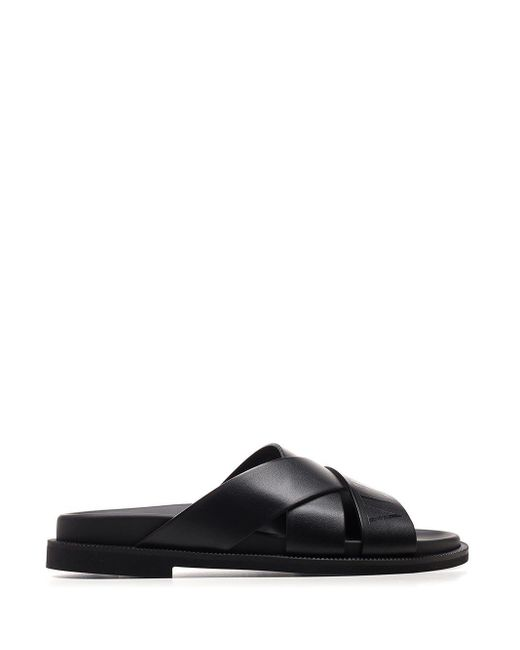 Valentino Garavani Black Other Materials Sandals for men