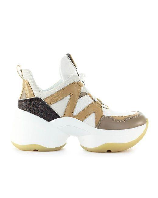 Michael Kors Metallic Gold Leather Sneakers