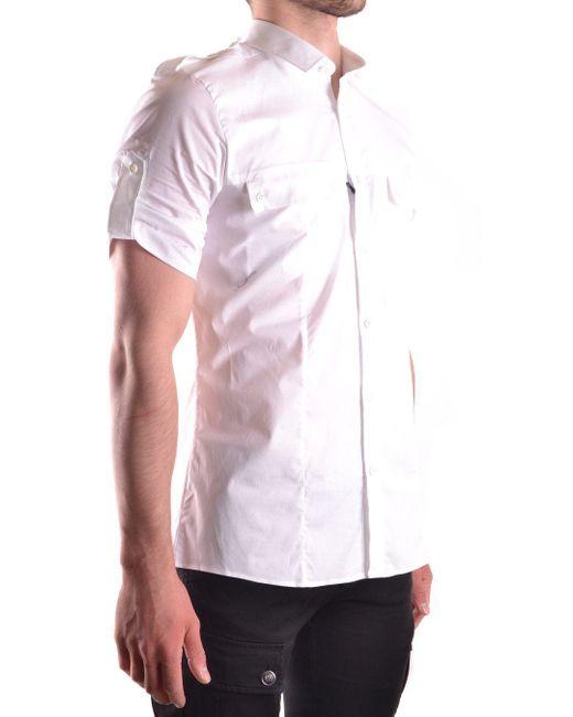 LES HOMMES Mens URC655UC5001000 White Cotton Shirt