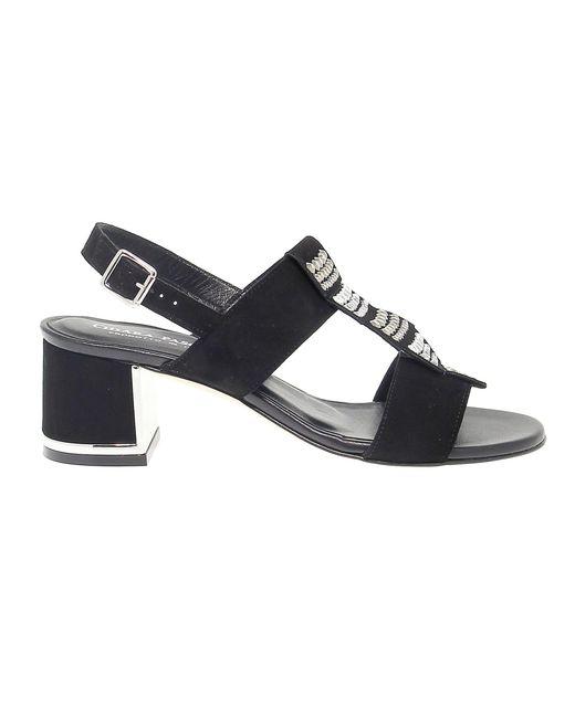 Pasquini Calzature Black Suede Sandals