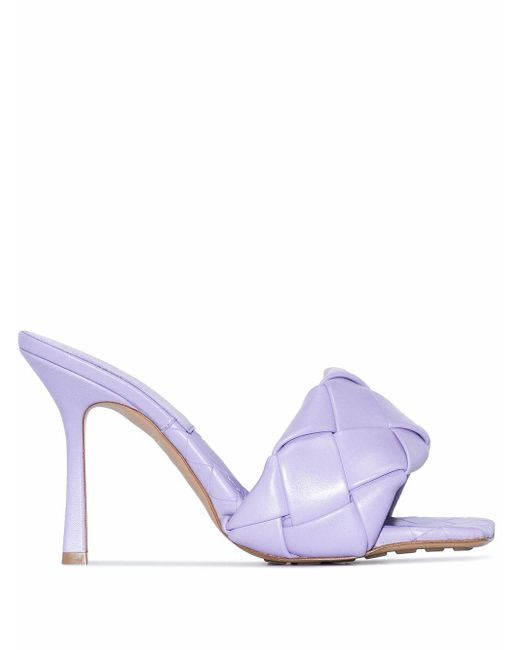Bottega Veneta Purple Lido 90mm Sandals