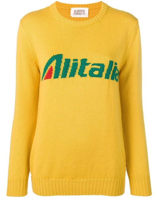Alberta Ferretti Yellow 'Atalia' Pullover