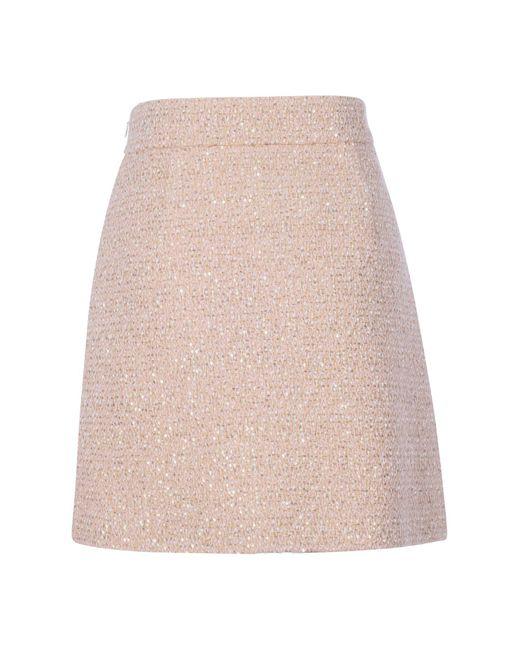 Miu Miu Pink Wool Skirt
