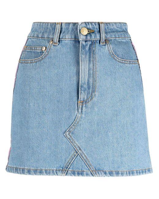 Chiara Ferragni Blue Skirt