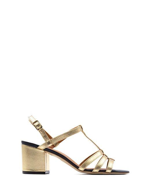 Via Roma 15 Metallic Sandals