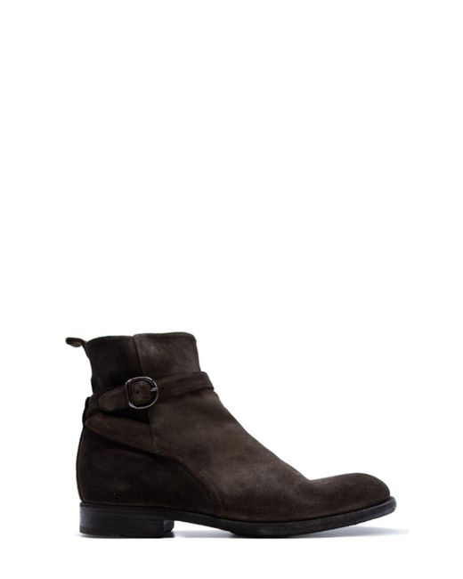 Pantanetti Brown Suede Ankle Boots for men