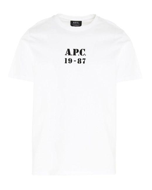 A.P.C. BAUMWOLLE T-SHIRT in White für Herren