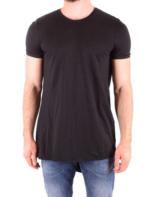 Tom Rebl Black Cotton T-shirt for men