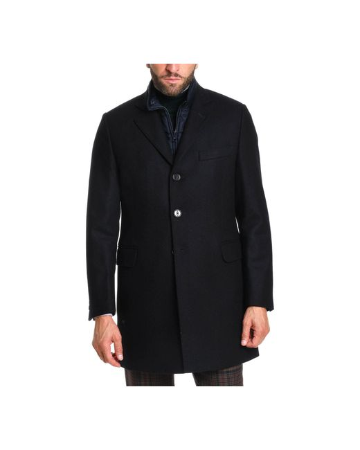 Fay Black Wool Coat for men