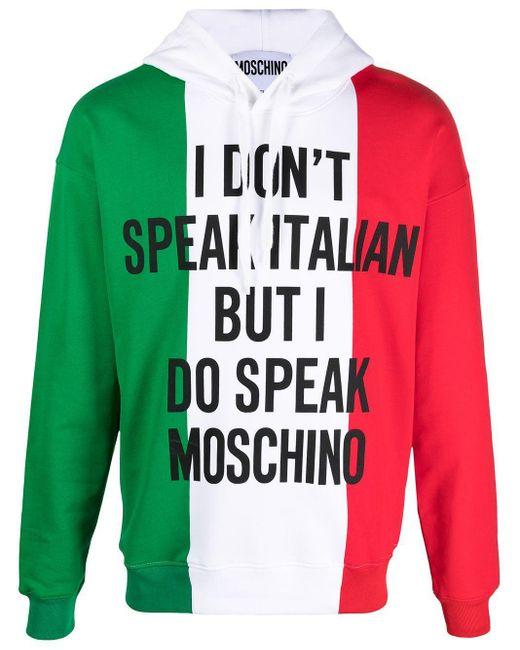 Moschino Green Cotton Sweatshirt for men