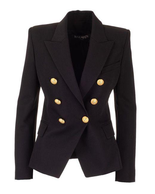 Balmain Black Wool Blazer