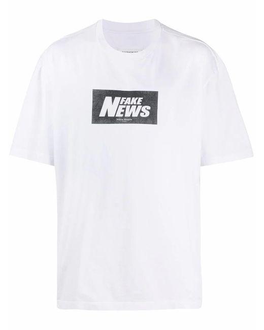 Maison Margiela White Cotton T-shirt for men