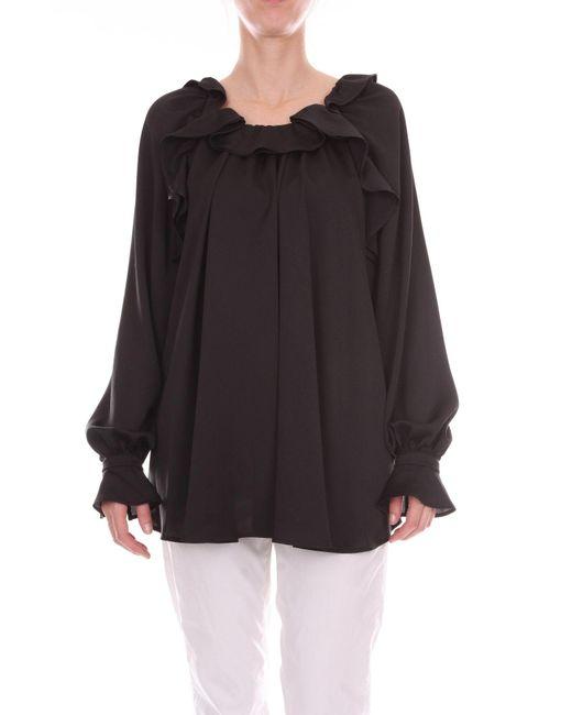 Blumarine - Black Polyester Blouse - Lyst