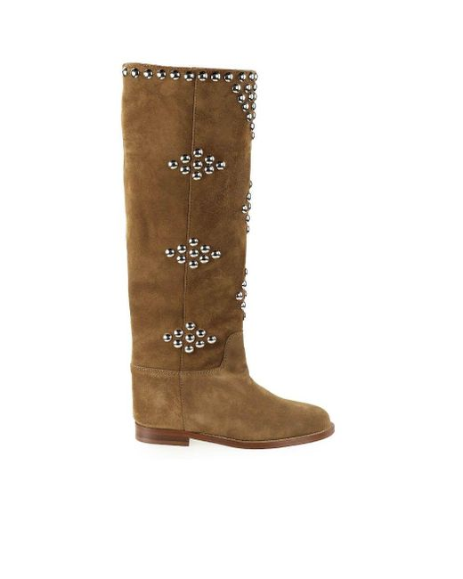 Via Roma 15 Brown 3500 Suede Boots