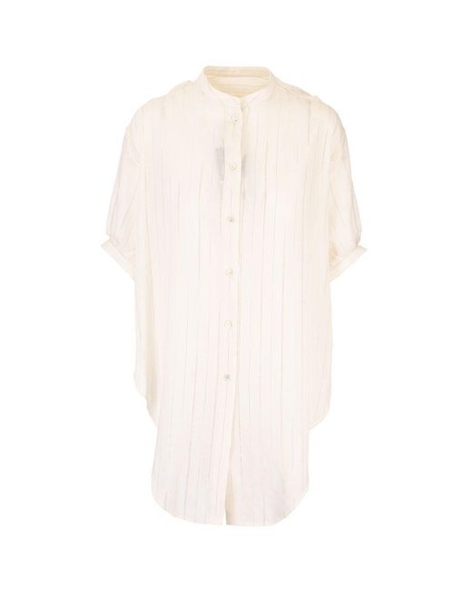 Saint Laurent White WEISS WOLLE BLUSE