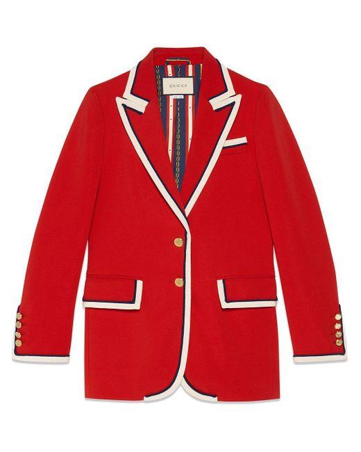 Gucci Red Jacke aus Stretch-Viskose
