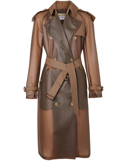 Burberry Brown BRAUN LEDER TRENCHCOAT