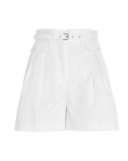 RED Valentino White BAUMWOLLE SHORTS