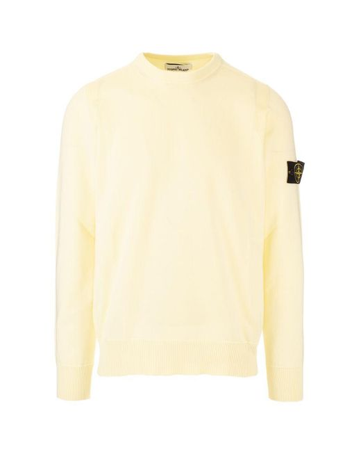 Stone Island Yellow Other Materials Sweater for men