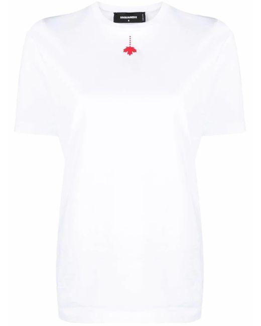 DSquared² Multicolor T-Shirt mit Ahornblatt-Print