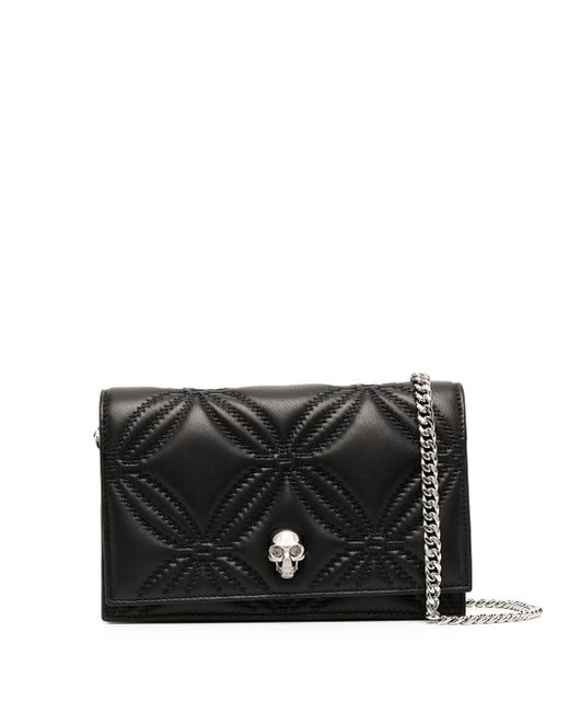 Alexander McQueen Black Leather Shoulder Bag