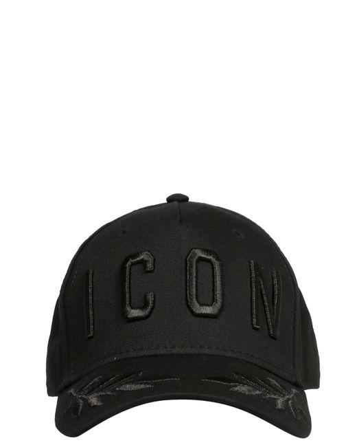 DSquared² Black Hat for men