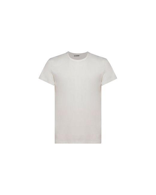 Jil Sander ANDERE MATERIALIEN T-SHIRT in White für Herren
