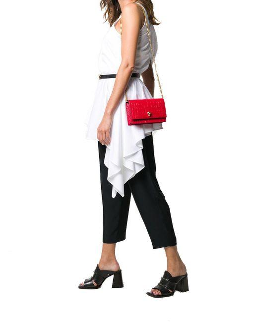 Alexander McQueen Red Leather Shoulder Bag