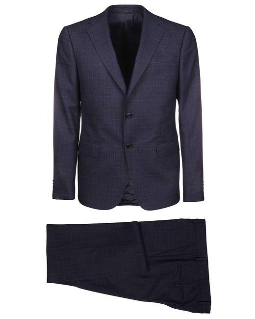 Z Zegna Blue Wool Suit for men