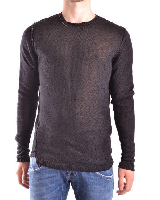 Isabel Benenato Black Linen Sweater for men