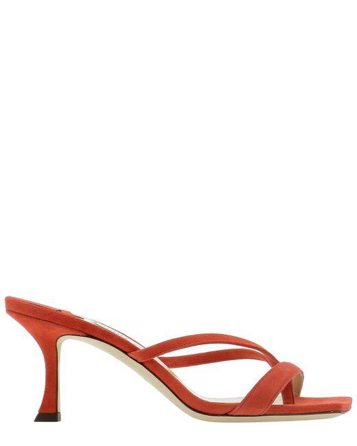 Jimmy Choo Red Maelie70suemandarin Other Materials Sandals