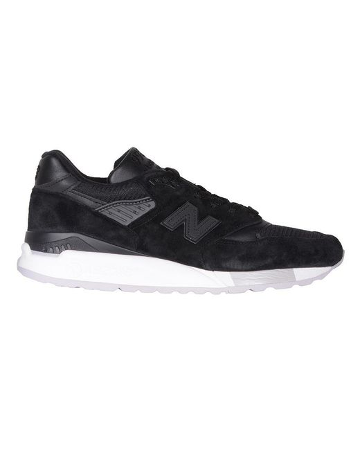 New Balance Black Suede Sneakers for men