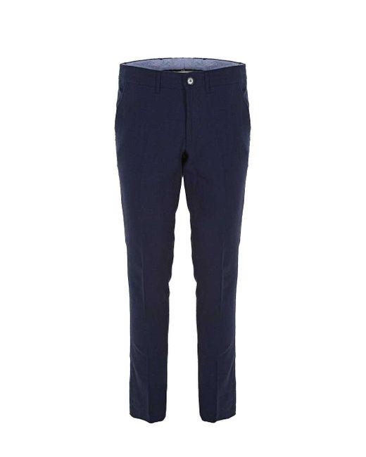 Imperial Blue Cotton Pants for men