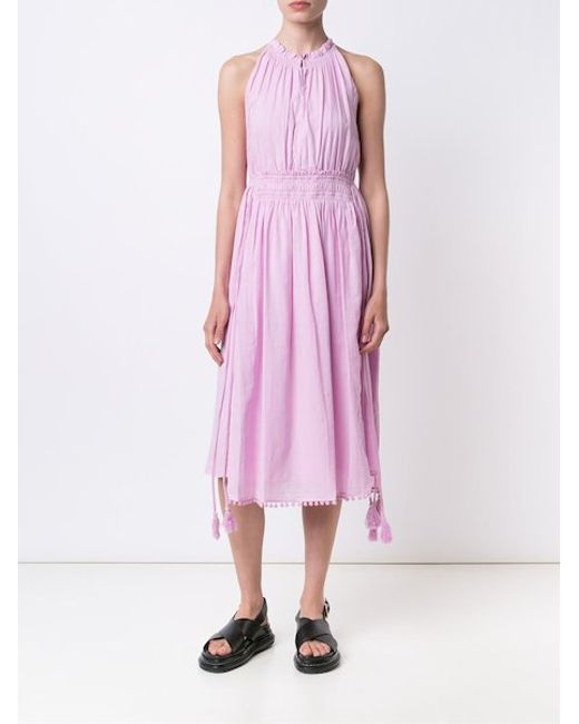 Apiece Apart La Rossa Dress In Pink Lyst