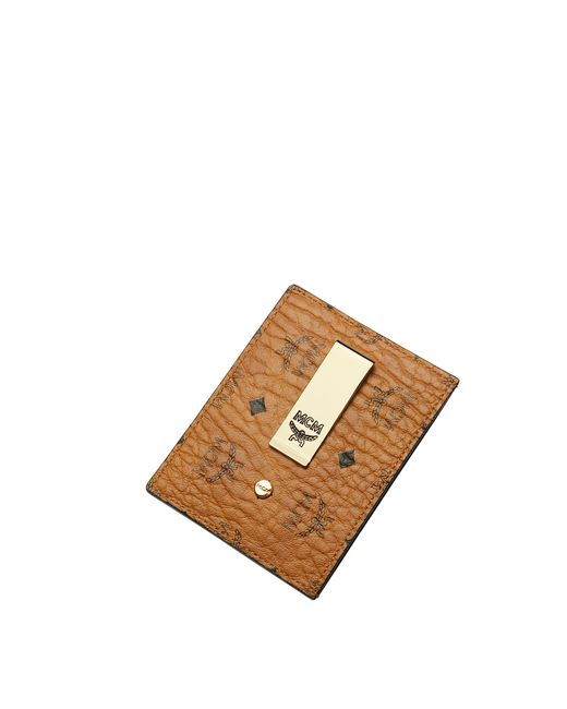 pretty nice c2104 4e392 Men's Brown Money Clip Card Case In Visetos Original