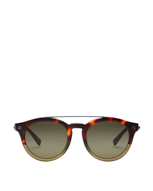 MCM - Brown Round Aviator Sunglasses - Lyst