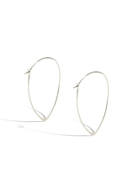 Melissa Joy Manning | Metallic 1.5 Inch Large Leaf Hoops | Lyst