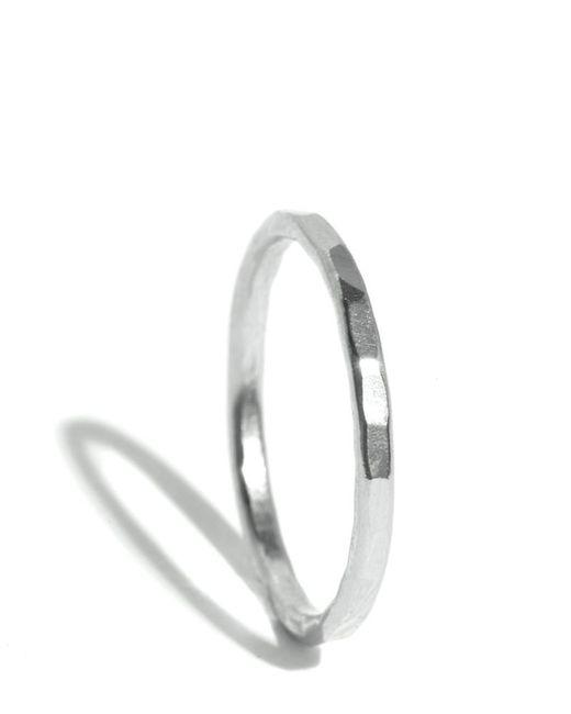 Melissa Joy Manning   Metallic Hammered Texture 1.5mm Ring   Lyst