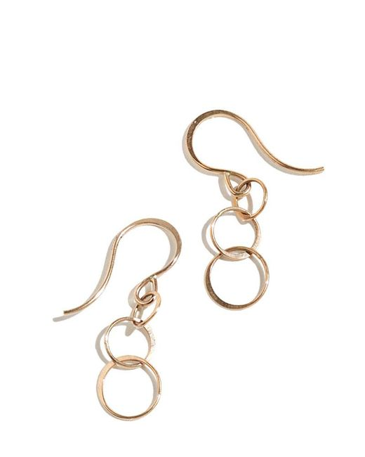 Melissa Joy Manning | Metallic 3 Circle Chain Earrings | Lyst