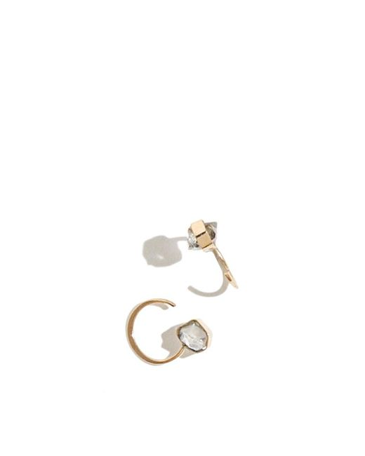 Melissa Joy Manning | Metallic Herkimer Diamond Hug Hoops | Lyst